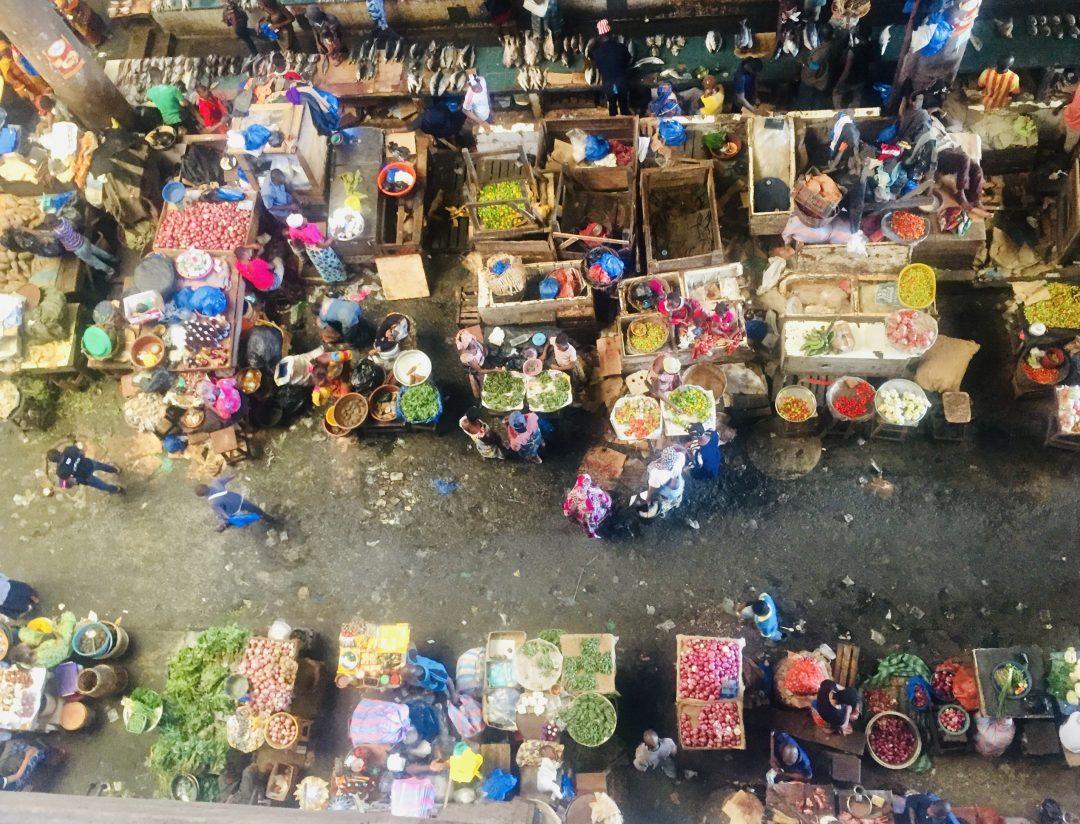 Lokale markt in Ivoorkust